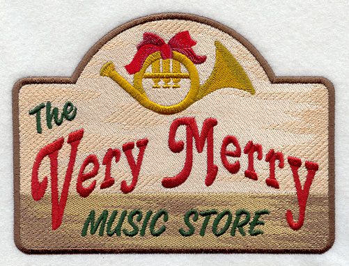 Very Merry Music Store Sign