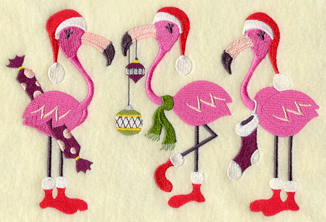 very merry flamingo christmas - Flamingo Christmas