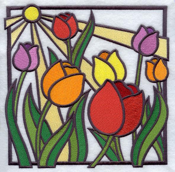 Art Neuveau Tulip Painting