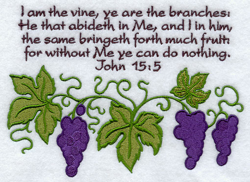analysis i am the vine and B v 4-5 the branch must abide in the vine - that is i don't know about you, but i find that truth liberating i am not required to do anything but abide.