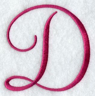 fancy flourish capital letter d 4 inch