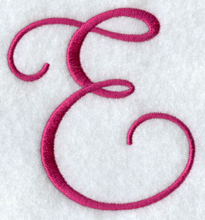 fancy flourish capital letter e 4 inch