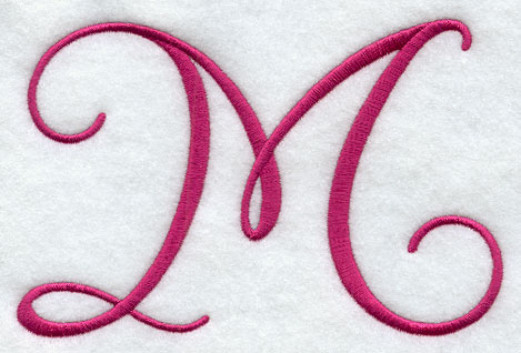 fancy flourish capital letter m 4 inch