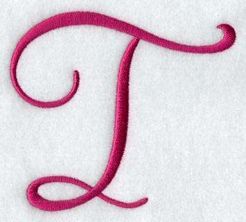 Fancy Flourish Capital Letter T