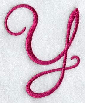 Fancy Flourish Capital Letter Y