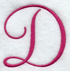 Fancy Flourish Capital Letter D