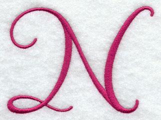 fancy flourish capital letter n 3 inch