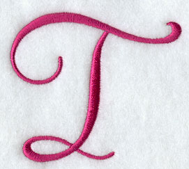 fancy flourish capital letter t 3 inch