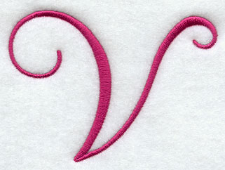 fancy flourish capital letter v 3 inch