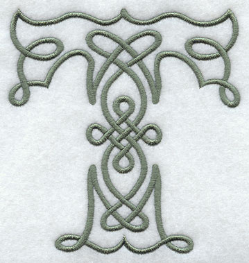 Celtic Knotwork Letter T