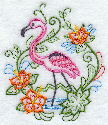 Flamingo Fancy Embroidery CD