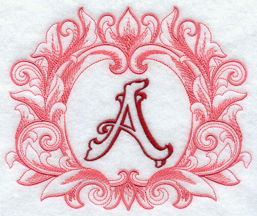 Grand Flourish Capital Letter A