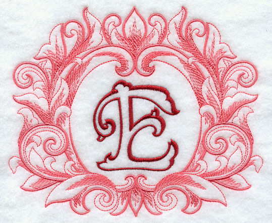 grand flourish capital letter e 6 inch