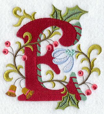 jacobean christmas letter e 5 inch