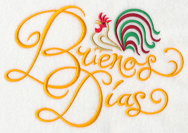 Machine embroidery designs at embroidery library embroidery library good morning spanish buenos dias m4hsunfo