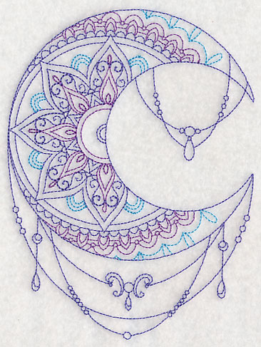 Machine embroidery designs at embroidery library for Moon architecture