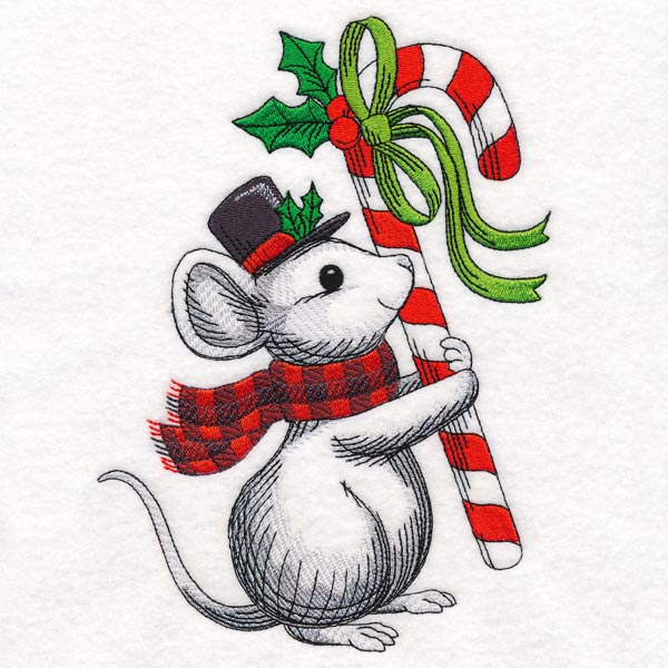 Christmas Mouse.Machine Embroidery Designs At Embroidery Library