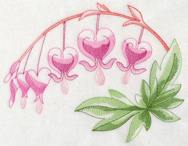 Red winged heart machine embroidery design u blasto stitch