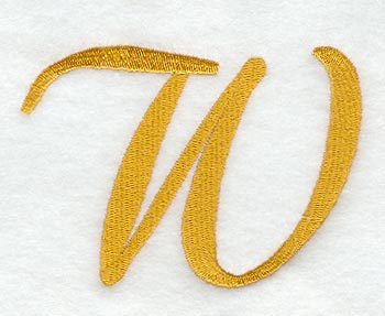 Curly Script Letter W 3 Inch
