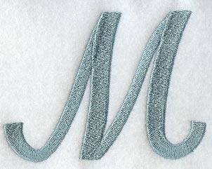 Flair Script Letter M 3 Inch