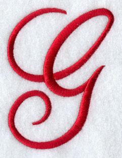 Monogram Script Letter G