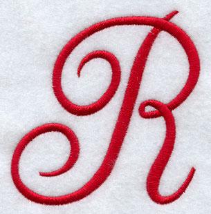 Monogram Script Letter R