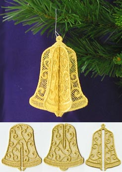 christmas 3d bell lace - How To Make 3d Christmas Decorations