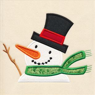 Snowman Applique Embroidery Design Christmas Design Snowman Embroidery Winter Applique Embroidery Design Petunia Petals Designs 1341