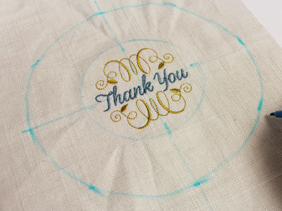 Free project instructions to embroider canning jar covers.