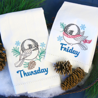 Featured Pack: Days of the Week Winter Chickadees (Vintage)