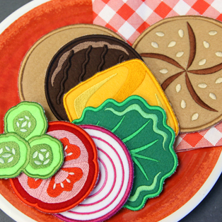Featured Pack: Cheeseburger Play Food (In-the-Hoop)