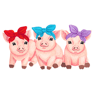 Request of the Week - Sweet Baby Pigs Trio