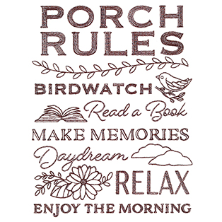 Request of the Week - Porch Rules