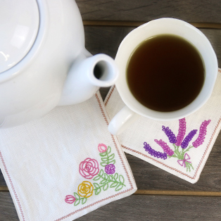 Stitch and Turn Coasters Tutorial