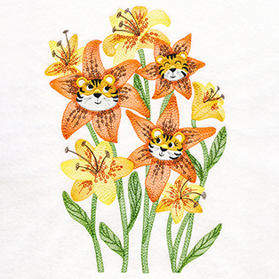 Request of the Week - Flower Face Blooms - Tiger Lilies