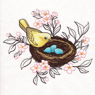 Request of the Week - Bird, Nest and Blooms