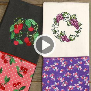 Embroidered Kitchen Towel Video