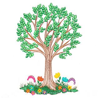 Request of the Week - Ribbon Embroidery Tree