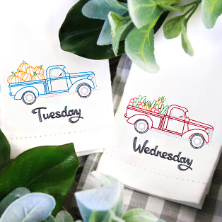 Featured Pack: Days of the Week Retro Trucks