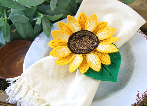 Freestanding Fabric Sunflower Tutorial