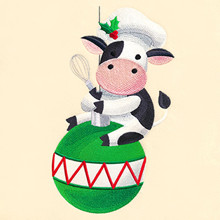 Request of the Week - Christmas Cow on Ornament