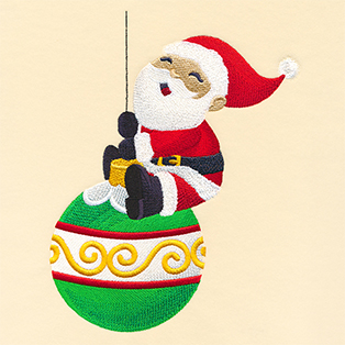 Request of the Week - Santa Swinging on Ornament