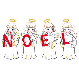 Request of the Week - Christmas Angel Noel Border