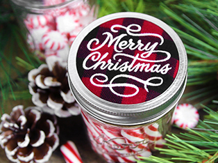 Christmas Jar Cover Designs