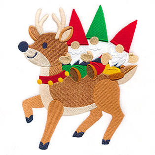 Request of the Week - Gnome Trio On Reindeer
