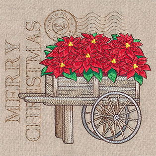 Request of the Week - Fresh Poinsettia Cart