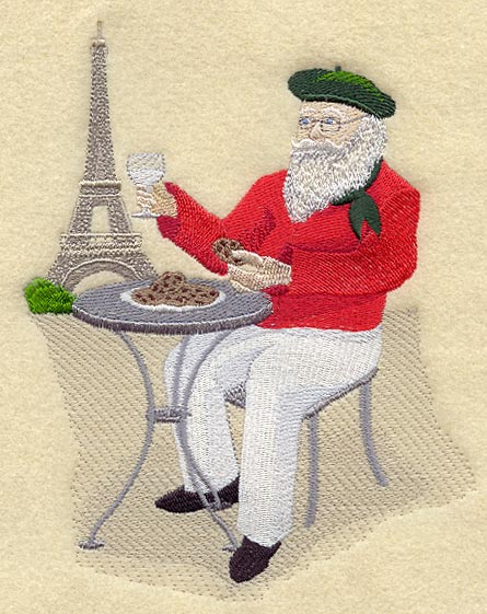 Machine embroidery designs at embroidery library embroidery library french santa spiritdancerdesigns Images