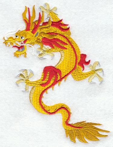 Machine Embroidery Design Dragons