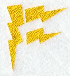 Lightning Letter F 3 Inch