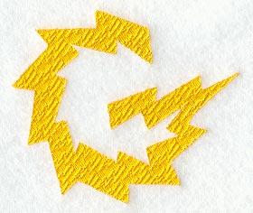 Lightning Letter G 3 Inch